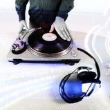 De hand van DJ stock foto's