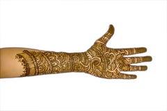 De Hand van een Meisje met mehndi-1 Stock Fotografie