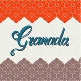 De hand van Granada het van letters voorzien vector illustratie