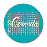 De hand van Granada het van letters voorzien stock illustratie