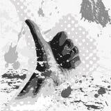 De hand van Grunge Stock Afbeeldingen
