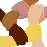 De hand van het behoren tot een bepaald ras Stock Foto