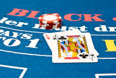De Hand van het blackjack Royalty-vrije Stock Foto's