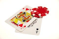 De Hand van het blackjack royalty-vrije stock fotografie