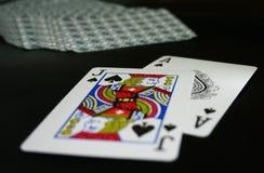 De hand van het blackjack Stock Fotografie