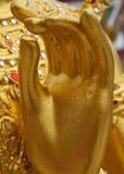 De Hand van het Buddismstandbeeld Stock Fotografie
