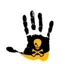 De Hand van het gevaar stock illustratie