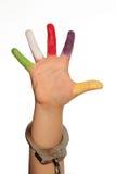De hand van het kind Stock Afbeeldingen