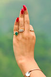 De hand van het meisje Royalty-vrije Stock Fotografie