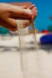 De Hand van het zand Stock Afbeeldingen