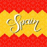 De hand van Spanje het van letters voorzien royalty-vrije illustratie