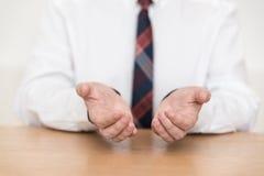 De hand verblijft in kostuum - vlotter Stock Fotografie