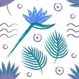 De hand verdrinkt het zachte patroon van de zomerstrelitzia vector illustratie