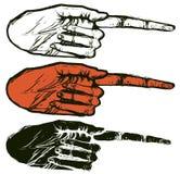 De hand wijst op Royalty-vrije Stock Fotografie