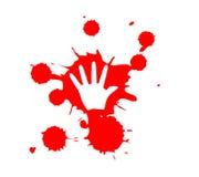 De handaf:drukken van het Bloed van het Geweld van het einde Royalty-vrije Stock Fotografie