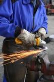De handarbeider van de zware industrie Royalty-vrije Stock Afbeeldingen