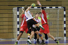 But de handball Photo stock