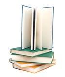 De handboeken van het examen stock foto's