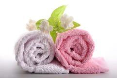 De handdoek van het kuuroord royalty-vrije stock afbeelding