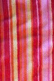 De Handdoek van het strand - AchtergrondTextuur in het Patroon van de Streep. stock foto