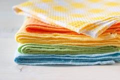 De handdoeken van de keuken stock foto's