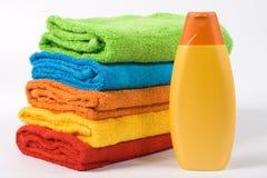 De handdoeken van de kleur Royalty-vrije Stock Afbeeldingen
