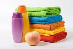 De handdoeken van de kleur Stock Afbeelding