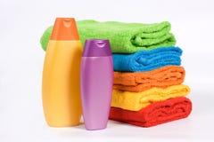 De handdoeken van de kleur Stock Fotografie