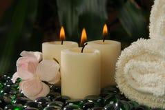 De Handdoeken van de massage Stock Fotografie