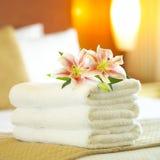 De handdoeken van het hotel Stock Afbeelding