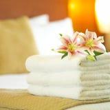 De handdoeken van het hotel Stock Foto's