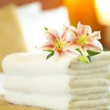 De handdoeken van het hotel Royalty-vrije Stock Foto's