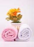 De handdoeken van het kuuroord Stock Afbeeldingen