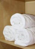 De handdoeken van het kuuroord Stock Foto's