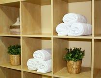 De handdoeken van het kuuroord Stock Foto