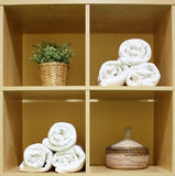 De handdoeken van het kuuroord Stock Fotografie