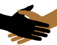 De Handdruk. Stock Afbeelding