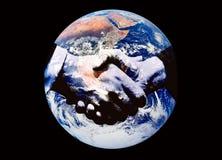 De handdruk van de wereld Stock Fotografie