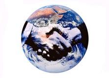 De handdruk van de wereld Stock Foto's