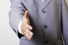 De handdruk van de zakenman Stock Foto's