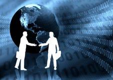 De Handdruk van het e-business Stock Afbeeldingen