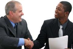 De Handdruk van zakenlieden stock foto