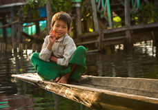 De handel voor de inwoners van Birma is de belangrijkste bron van inkomsten Royalty-vrije Stock Foto
