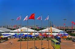 De handelsbeurspaviljoenen van China royalty-vrije stock afbeelding