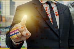 De handelsinvesteringen zijn voordelig concept stock afbeeldingen