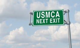 De Handelsovereenkomst van USMCA Noord-Amerika royalty-vrije illustratie