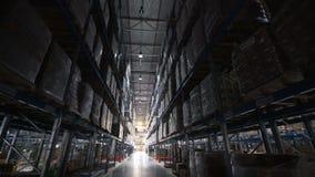 De handelsstructuur van de pakhuizen grote logistiek binnen stock videobeelden