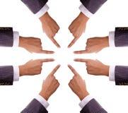 De handen die van Humand aan centrum richten royalty-vrije stock foto