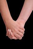 De handen sensuele aanraking van vrouwen stock foto