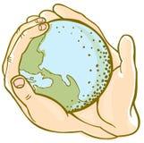 De handen van de aarde Royalty-vrije Stock Afbeeldingen